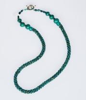 Malachite woven rope