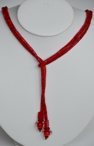 Red woven lariat